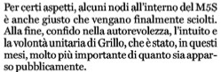 Bettini su Grillo